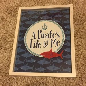 """""""A Pirates life for me"""" ART for boys room"""